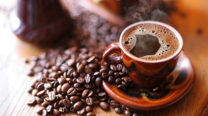breakfast, coffee beans, coffee