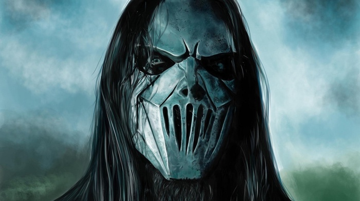Mick Thomson, music, metal music, Slipknot, artwork, anime