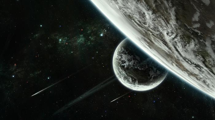 ракурс, звездный космос, планеты, космос, кометы