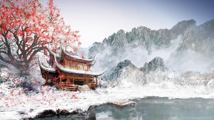 Картинки зима в японии на рабочий стол