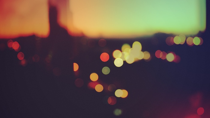 bokeh, macro, sunset