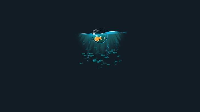 minimalism, sea, simple, threadless, fish, artwork
