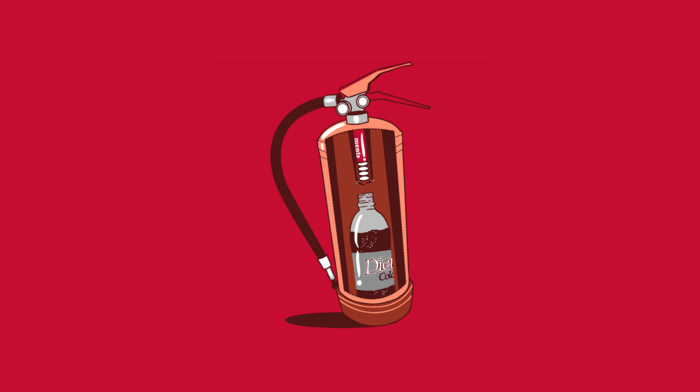 coca, cola, Mentos, minimalism, fire extinguishers, humor, simple, red, threadless