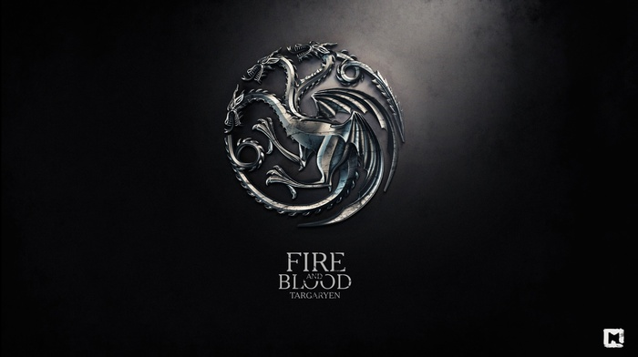 fire, Game of Thrones, logo, digital art, House Targaryen, sigils, dragon, metal, fire and blood, a song of ice and fire, anime