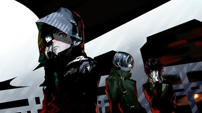 Tokyo Ghoul, Nishio Nishiki, Kaneki Ken, Yomo Renji, anime