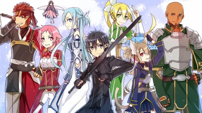 Юки Асуна, девушки из аниме, аниме, Kirigaya Kazuto, парни из аниме