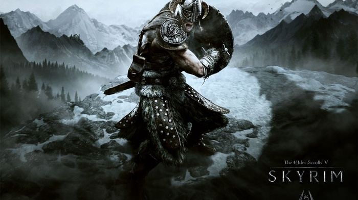 the elder scrolls v skyrim, fantasy art, video games, dragon
