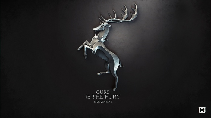 Game of Thrones, digital art, a song of ice and fire, sigils, House Baratheon