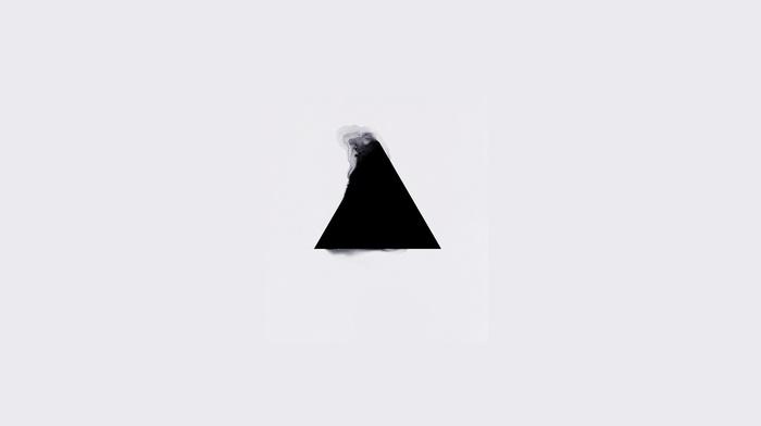 triangle, geometry, minimalism, white background, illuminati