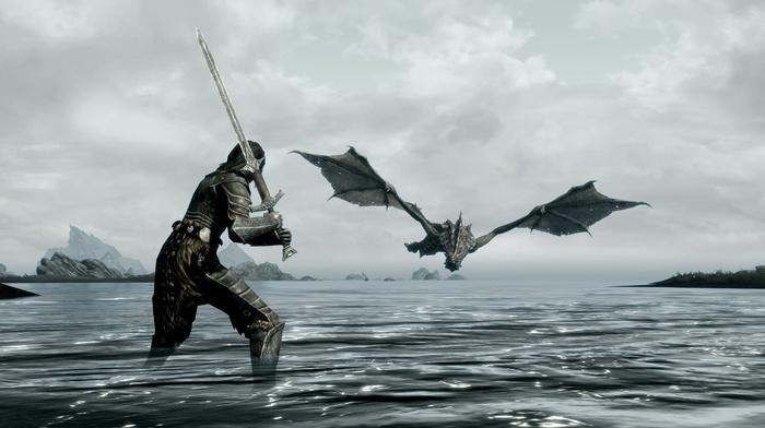 the elder scrolls v skyrim, video games, dragon
