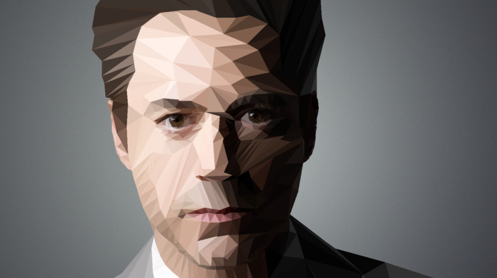gray, Iron Man, celebrity, Robert Downey Jr., geometry