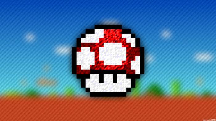 trixel, Super Mario, pixel art