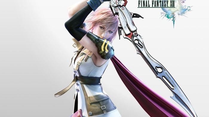 video games, Claire Farron, Final Fantasy, Final Fantasy XIII, sword