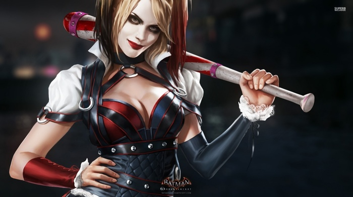 Batman Arkham Knight, Batman, girl, video games, Harley Quinn