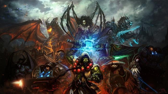 StarCraft, Thrall, World of Warcraft, Sarah Kerrigan, Warcraft, elves