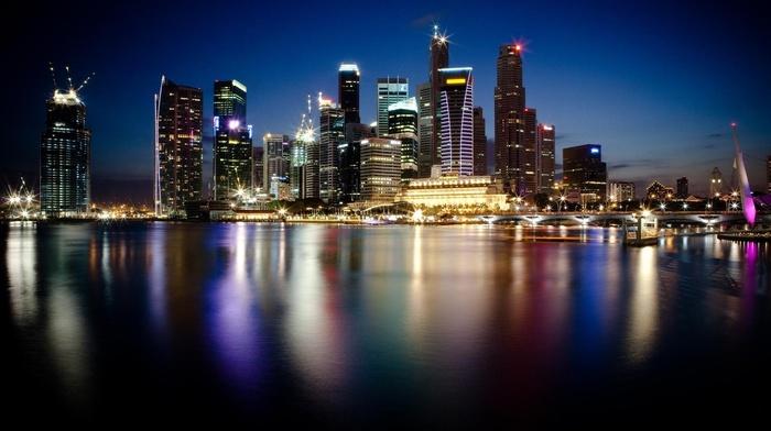 lights, cities, city, skyscrapers