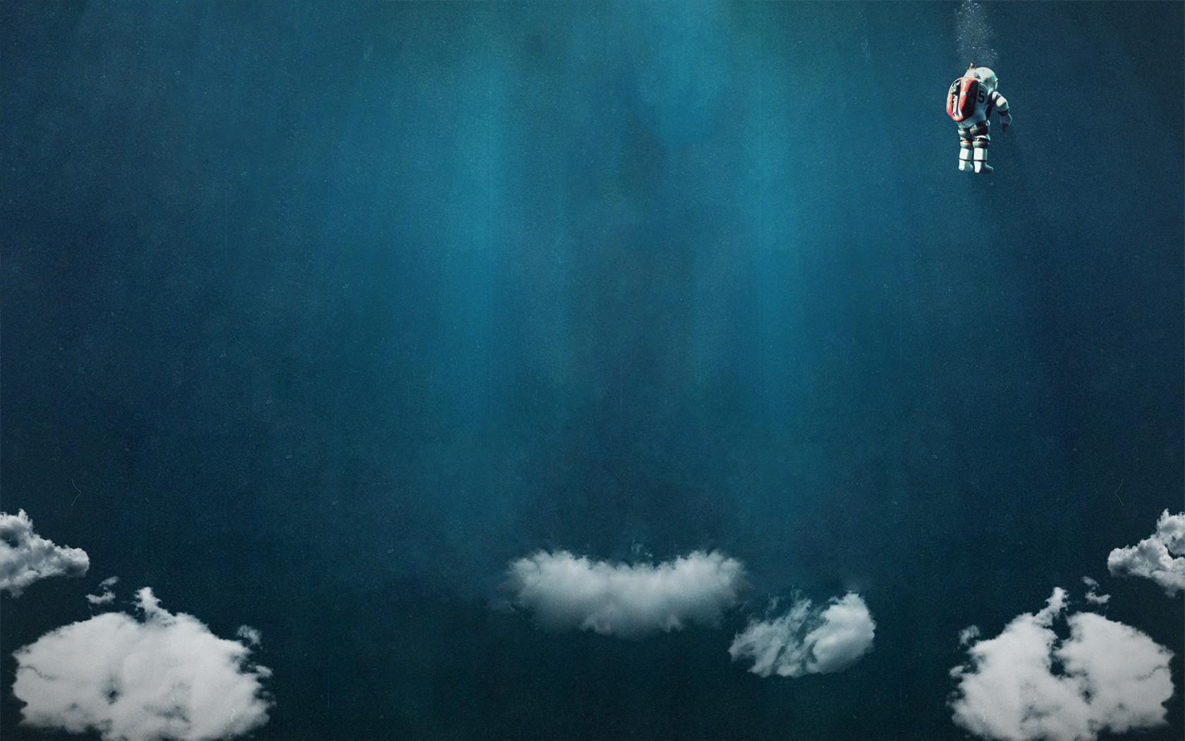 Clouds Diving Suits Scuba Artwork