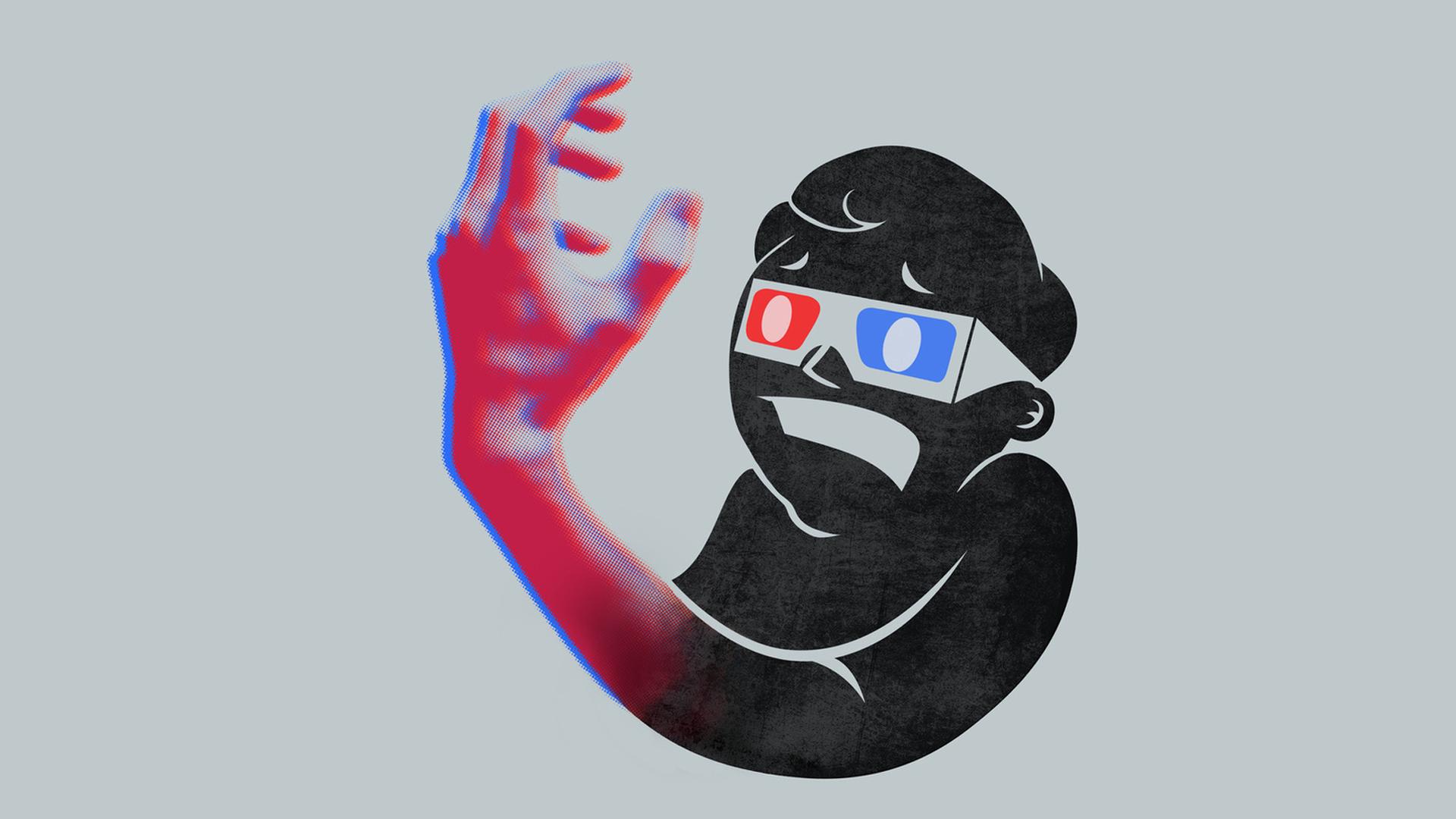 3D Pip Boy Anaglyph Fallout Minimalism