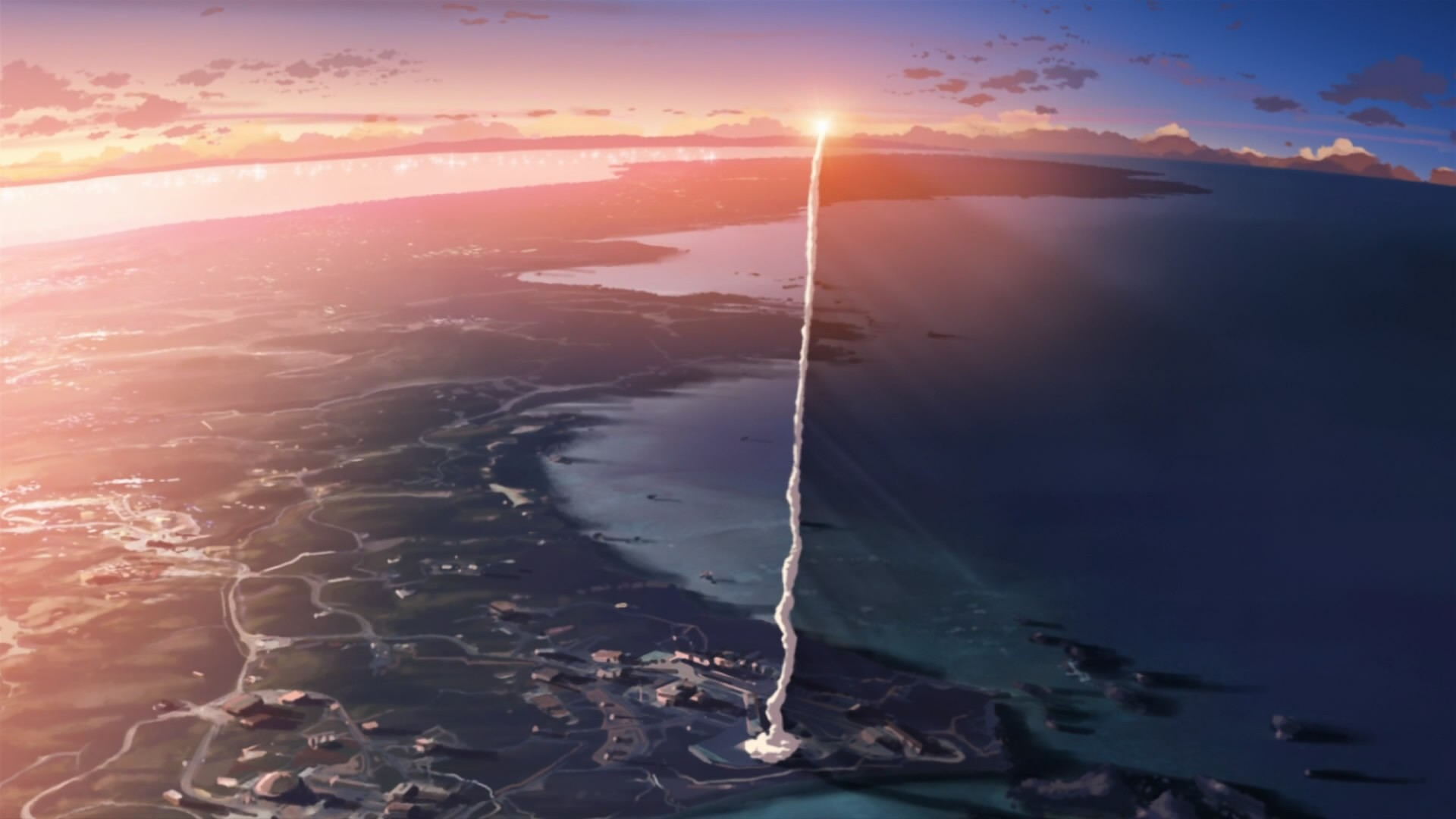 5 centimeters per second smoke makoto shinkai anime rockets