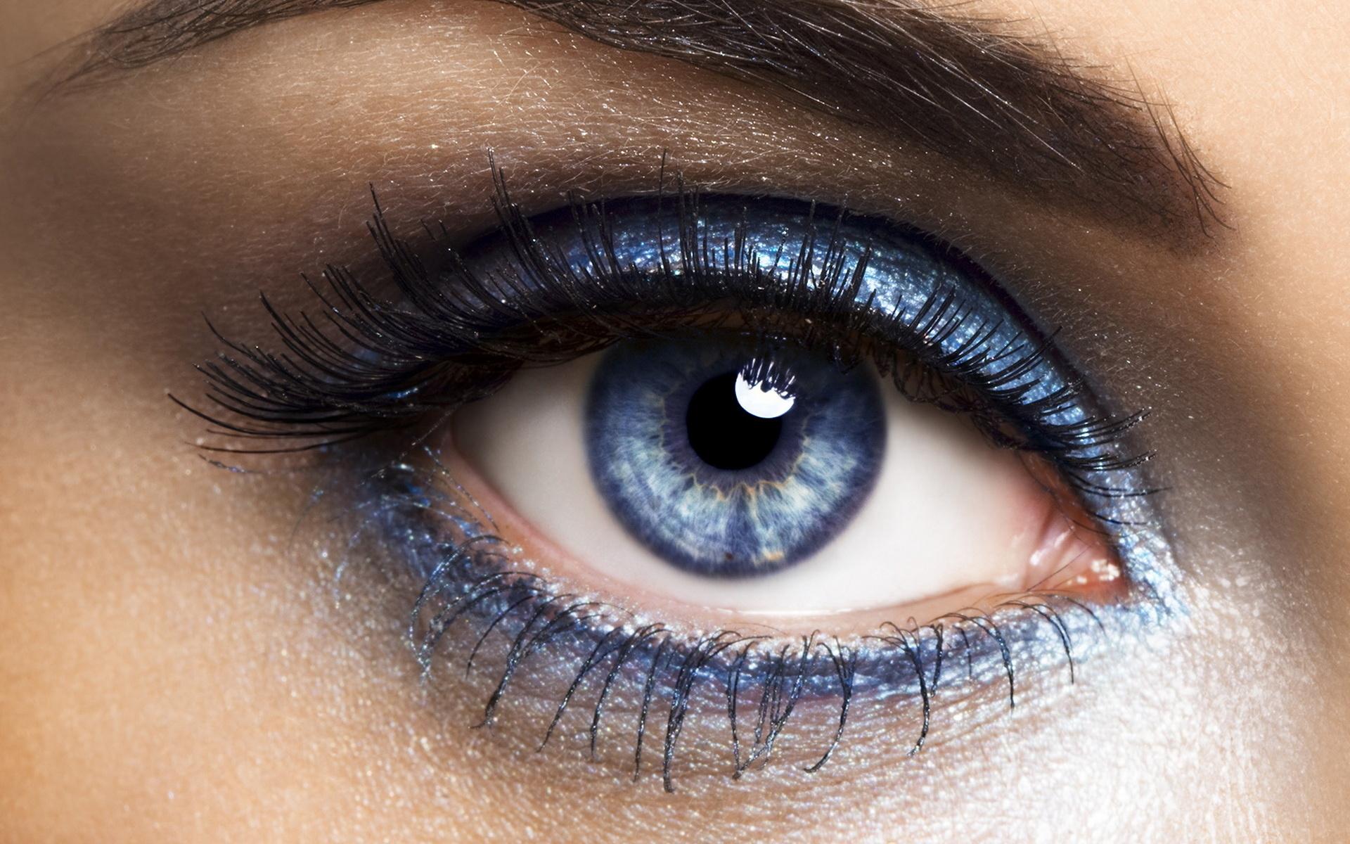 Макияж на голубые глаза.фото
