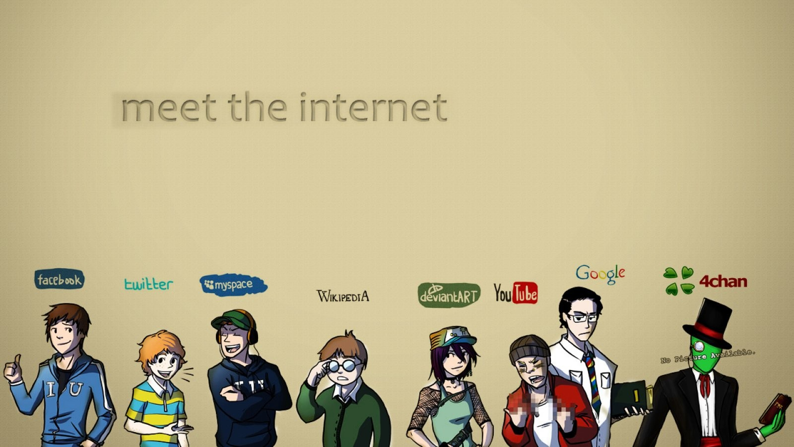 Twitter, DeviantArt, MySpace, Facebook, Google, artwork - wallpaper ...