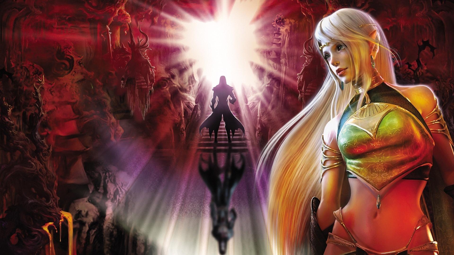 Fantasy Warrior Light Blonde Girl
