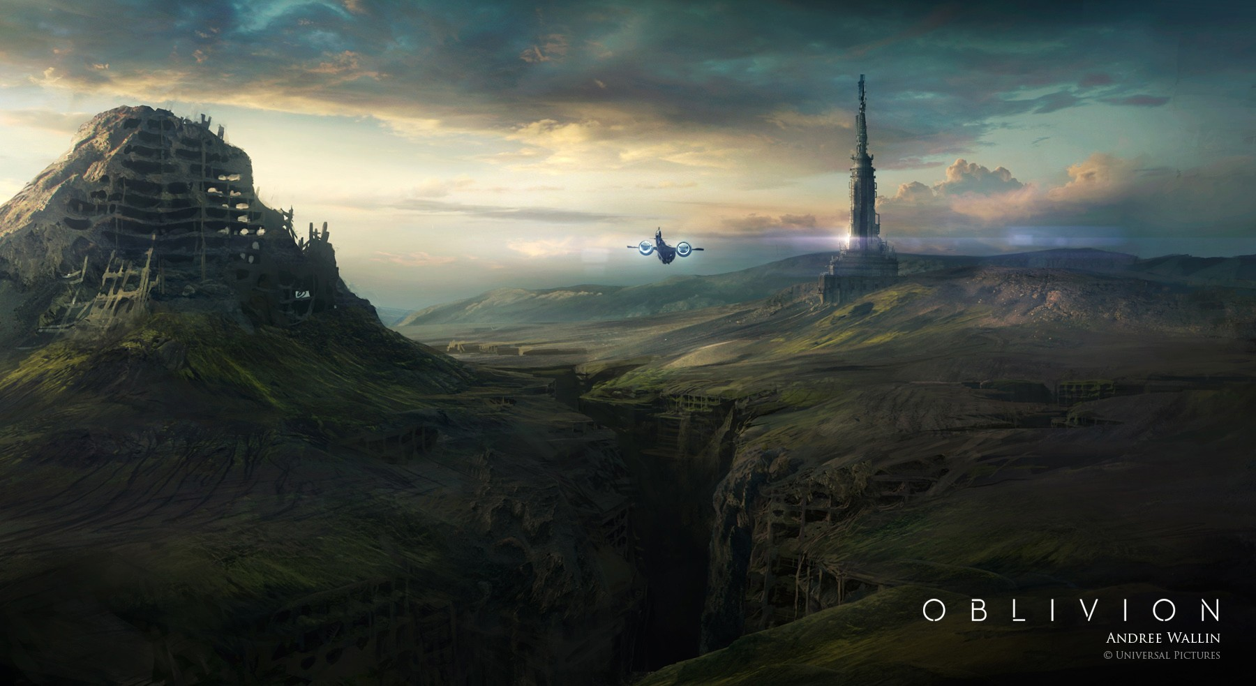 oblivion movie, space, andree wallin, fantasy art, concept art