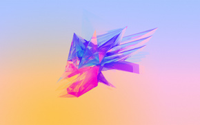Facets, abstract, shapes, Justin Maller