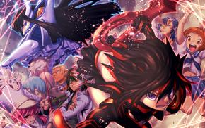 Kill la Kill, anime girls, detailed, Matoi Ryuuko, anime, soft shading