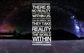 typography, quote, Death Valley, space