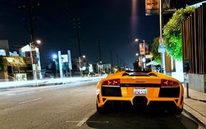 Lamborghini, car, Lamborghini Murcielago, yellow cars