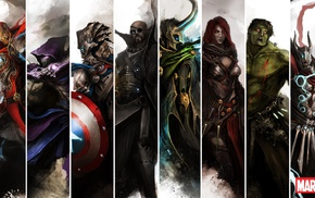 anime, Loki, Thor, Arrow, Black Widow, The Avengers