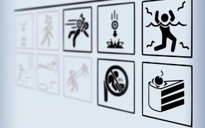 Portal, warning signs