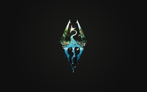 minimalism, The Elder Scrolls V Skyrim, video games, logo