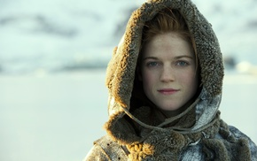 Game of Thrones, girl, face, Ygritte, redhead, Rose Leslie
