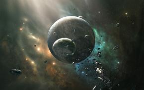 космос, космический арт, планета