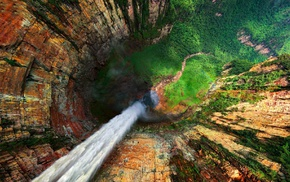 nature, hill, mountain, forest, landscape, Angel Falls
