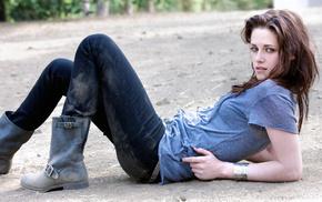 boots, brunette, jeans, Kristen Stewart