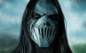 Mick Thomson, music, metal music, Slipknot, artwork, anime