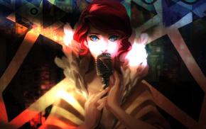 redhead, Red Transistor, video games, Transistor, blue eyes