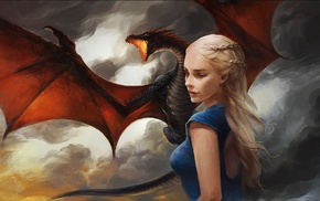 artwork, dragon, Daenerys Targaryen, Game of Thrones