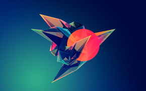 abstract, Justin Maller, Facets, artwork, geometry