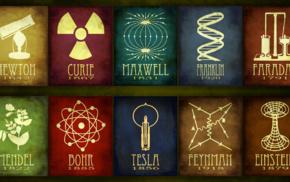 Niels Bohr, chemistry, physics, Nikola Tesla, Faraday, Isaac Newton