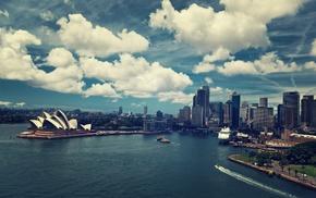 небо, город, здание, архитектура, Австралия