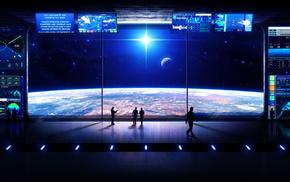 space, futuristic, blonde