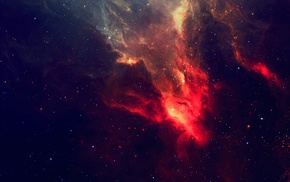 TylerCreatesWorlds, stars, nebula, photography, red, space