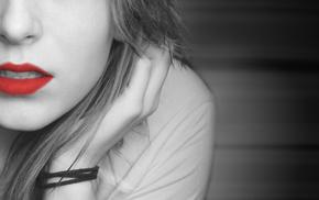 lips, girl, love, face, red