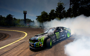 Monster Energy, car, Vaughn Gittin Jr., drift, Ford, Ford Mustang