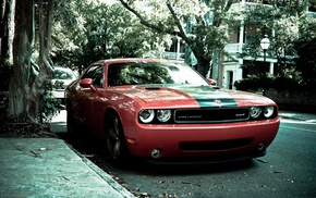 muscle cars, Dodge Challenger SRT, Dodge, car