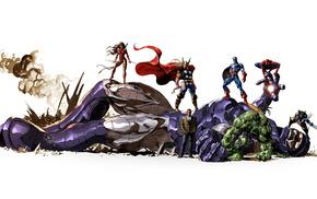 Wolverine, Norman Osborn, Captain America, Thor, The Avengers, Elektra